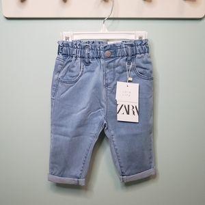 Zara Baggy Paperbag Jeans